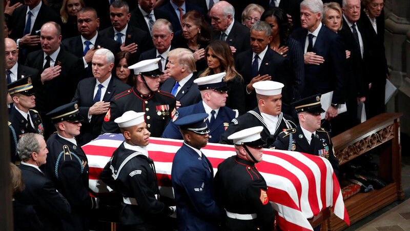 Nation says a final farewell to George H.W. Bush