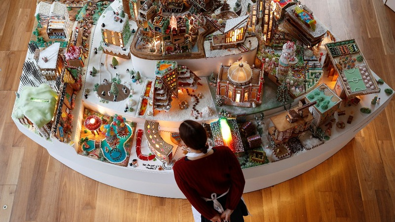 INSIGHT: Architects build edible gingerbread city