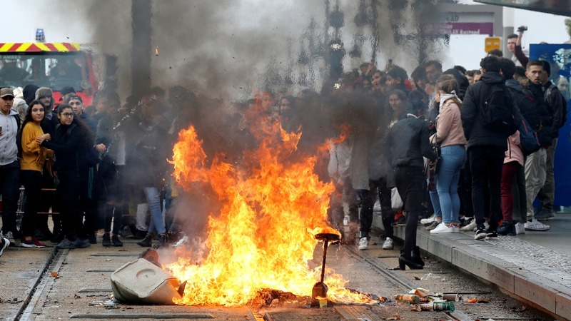 Macron's defeat may not stop protests