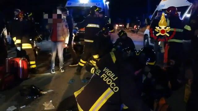 Six dead and dozens injured in Italian nightclub stampede - local media