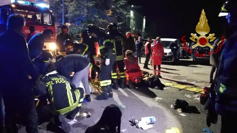 Nightclub stampede kills 6 in Italy