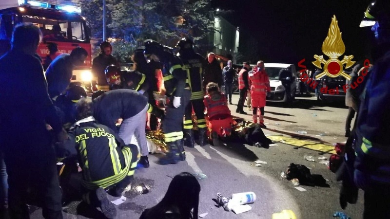 Nightclub stampede kills 6 in Italy