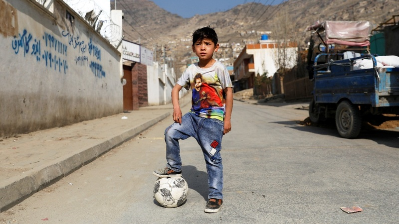 Afghanistan's 'Messi boy' forced to flee home