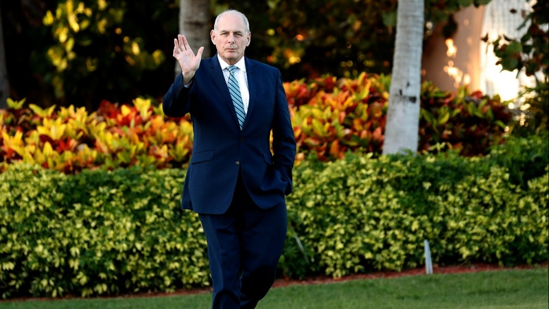 Trump says Kelly will leave at end of year