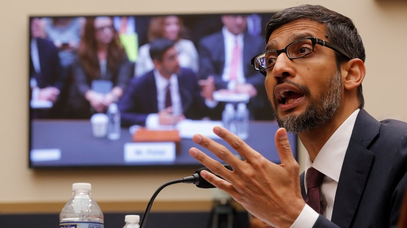 Google CEO gets a tongue-lashing on Capitol Hill