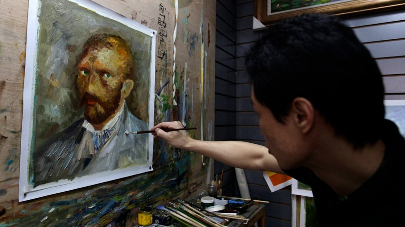 China's copycat art capital struggles to change