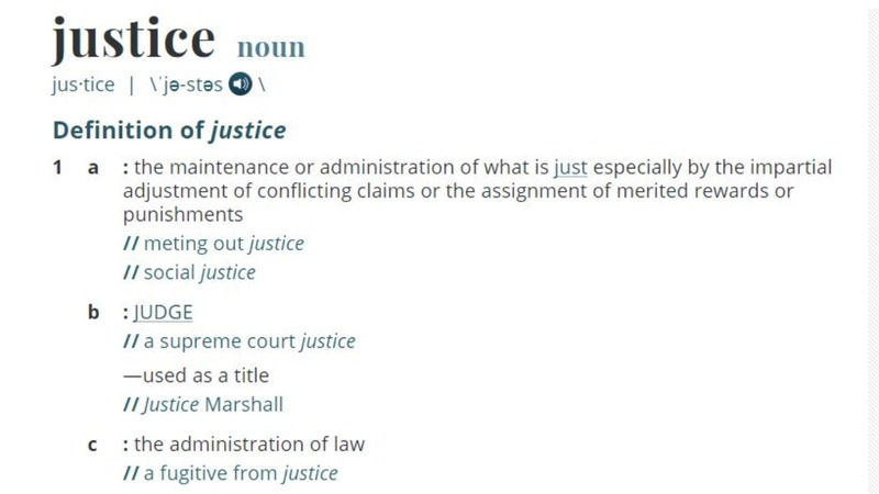 'Justice' is Merriam-Webster's word of the year