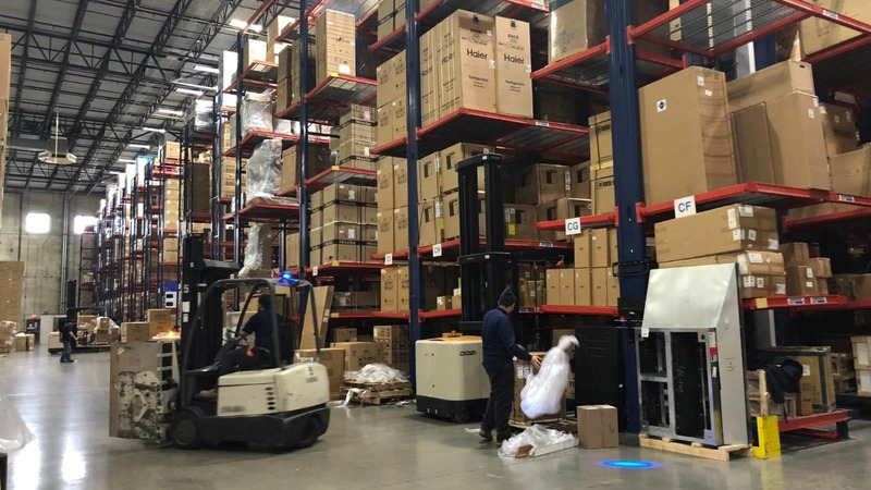 Anticipating high tariffs, retailers hoard products