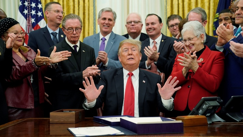 Trump 'totally prepared' for a shutdown