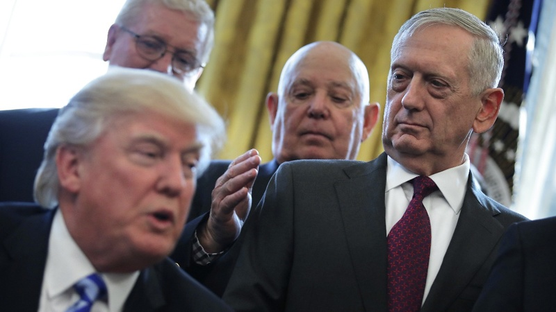 Trump pushes Mattis out early