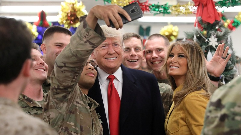 Trump makes surprise visit to troops in Iraq