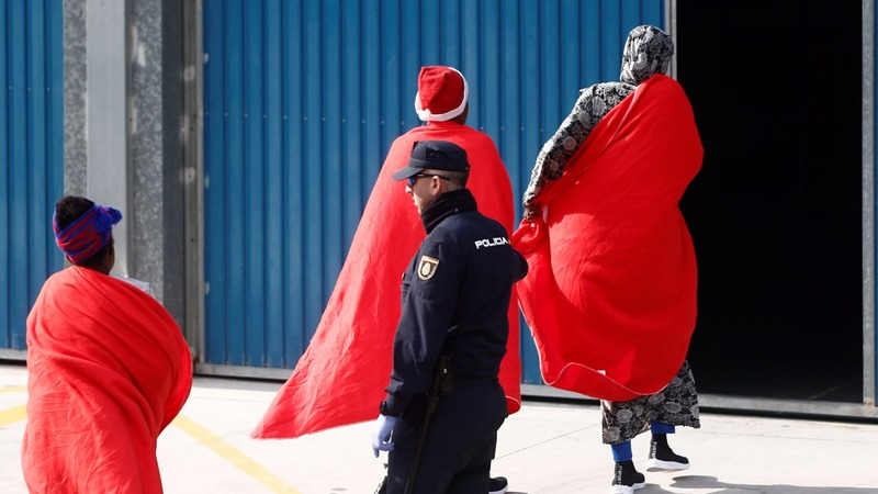 INSIGHT: 308 rescued migrants arrive in Spain