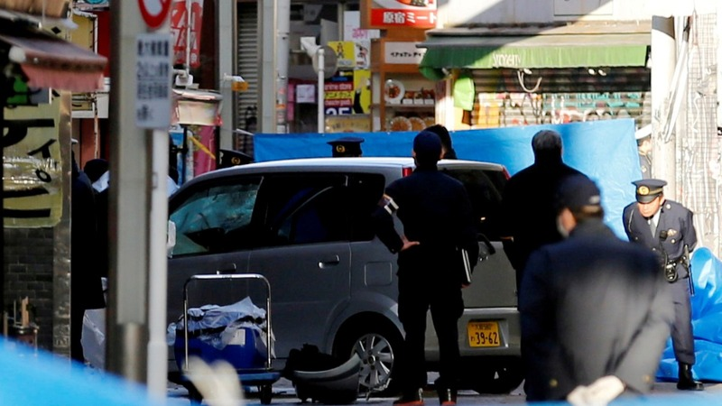 Vehicle ploughs into New Year's crowd in Tokyo