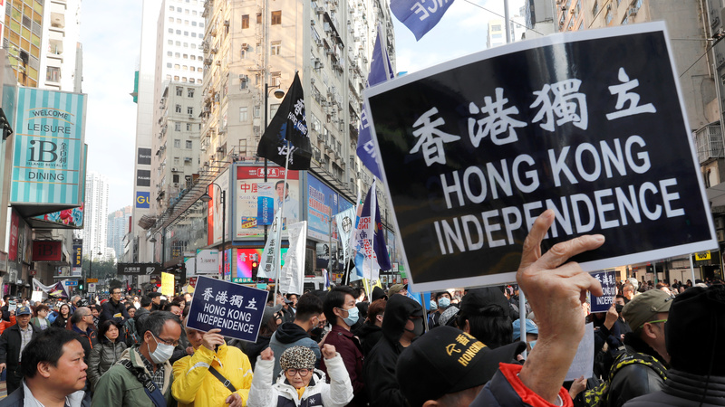 Protests in Hong Kong against China 'repression'