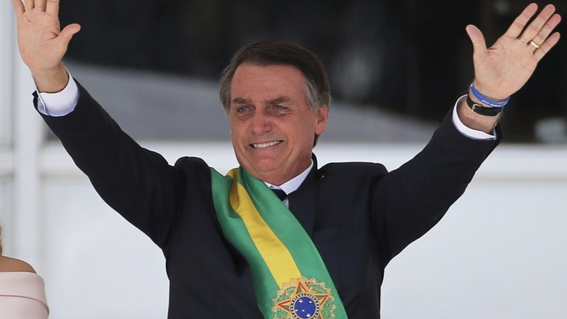 Bolsonaro takes office as Brazil's president