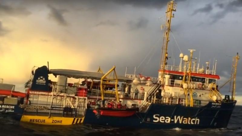 NGO boat enters third week stranded at sea