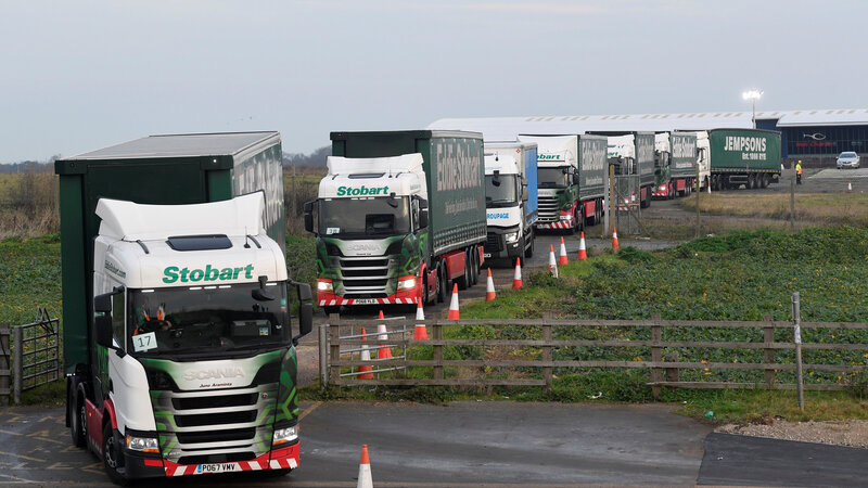 UK prepares for no-deal Brexit with mass truck convoy