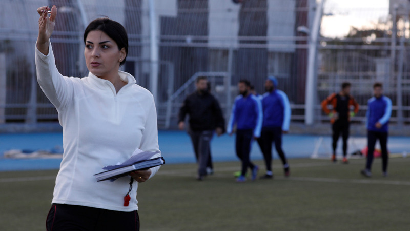 Female soccer coach evens Syria's playing field
