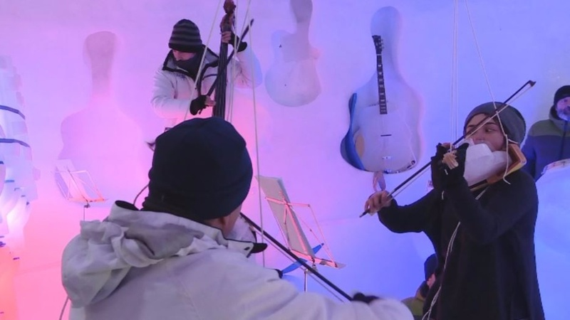 INSIGHT: Making musical ice on an Italian glacier