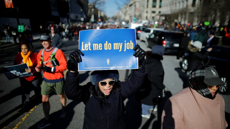 Federal workers demand an end to the shutdown