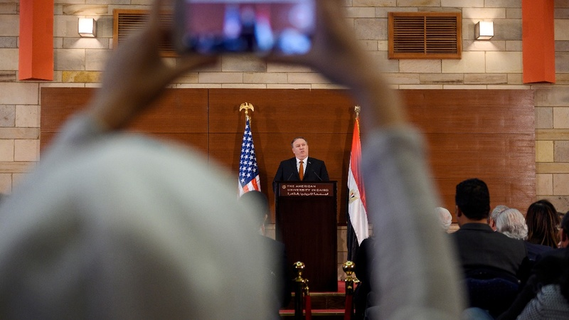 Pompeo in Cairo blasts Obama, defends Syria pullout