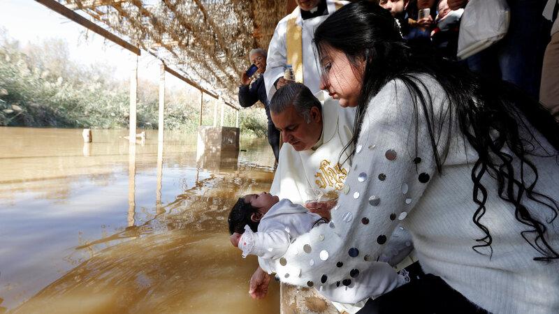 INSIGHT: Pilgrims trek to Jesus's baptism site
