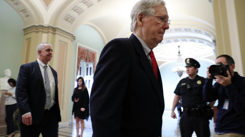 McConnell lays low in shutdown battle