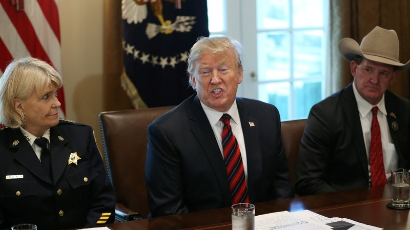 Trump backs off emergency declaration - for now