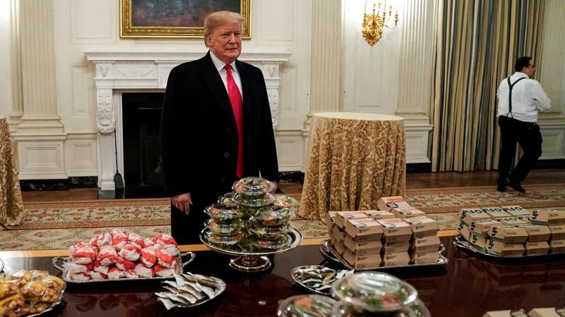 INSIGHT: Trump serves fast food amid shutdown