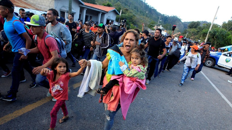 New migrant caravan heads for the U.S. border