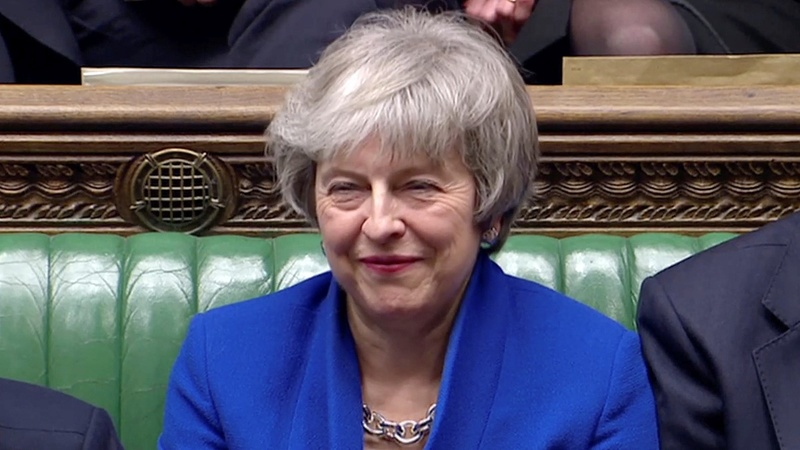 Theresa May's government wins no confidence vote
