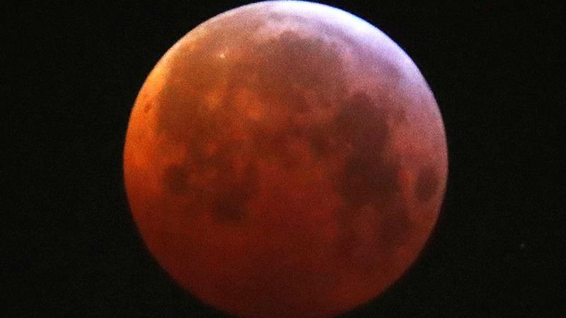 Super Blood Wolf Moon wows stargazers