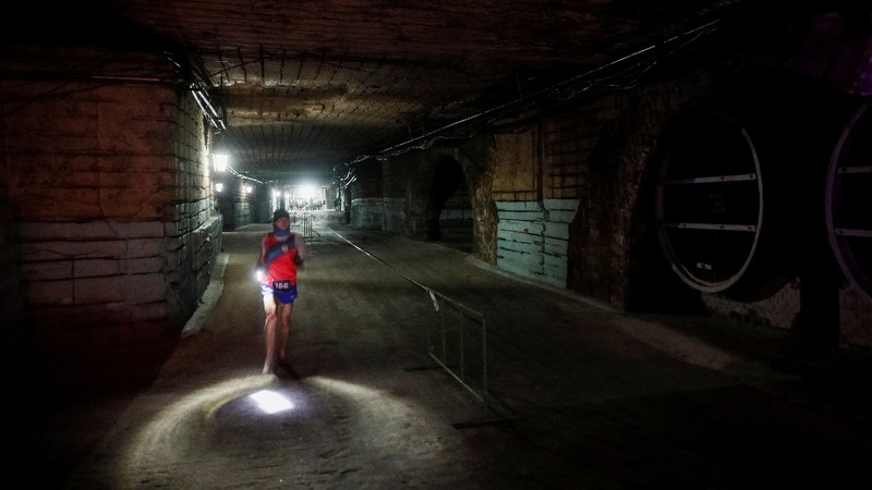 Runners take on world's largest wine cellar