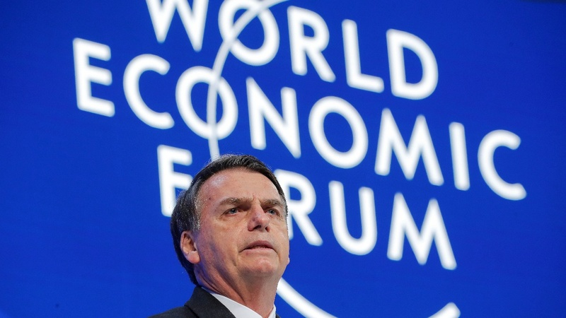 Brazil's upbeat Bolsonaro faces sober Davos mood