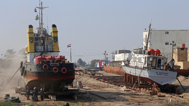 Basra's British-era shipyard going strong