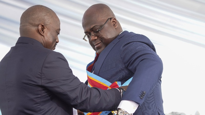 Congo's Tshisekedi sworn in as president