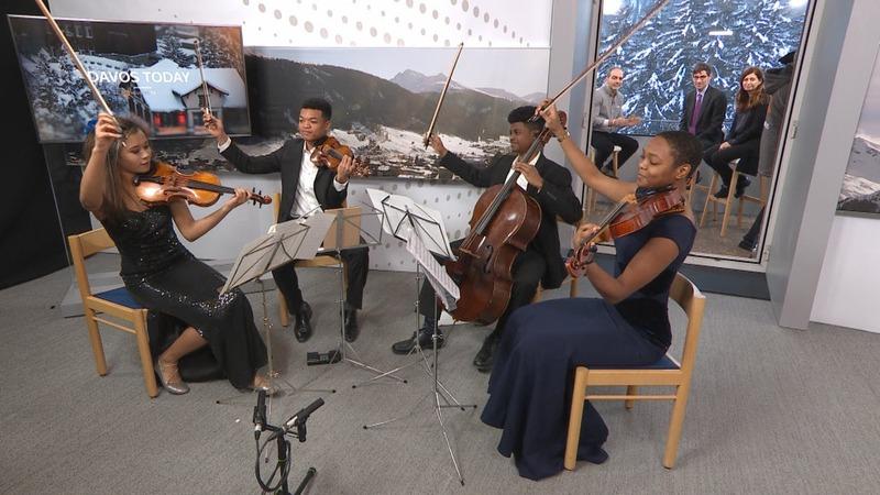 Detroit string quartet closes Davos Today