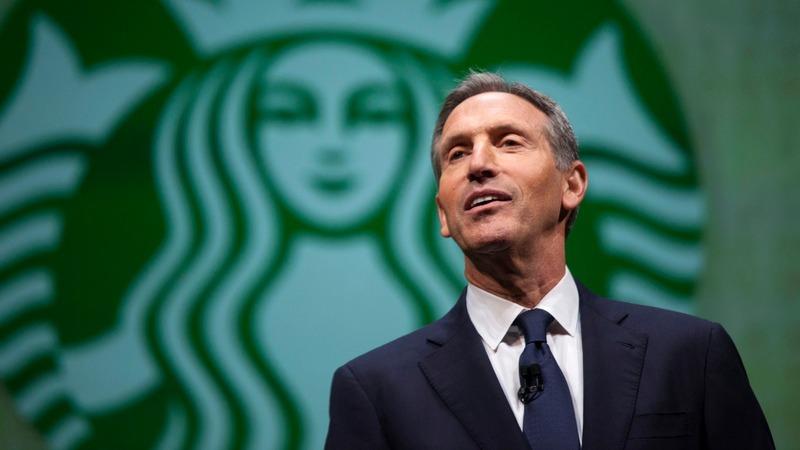 Starbucks CEO mulls White House bid; Trump sneers