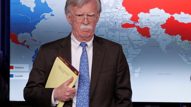 Bolton's mystery notes on Colombia raise red flags