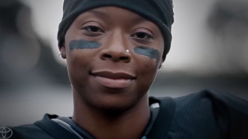 Women flex their muscles in Super Bowl ads