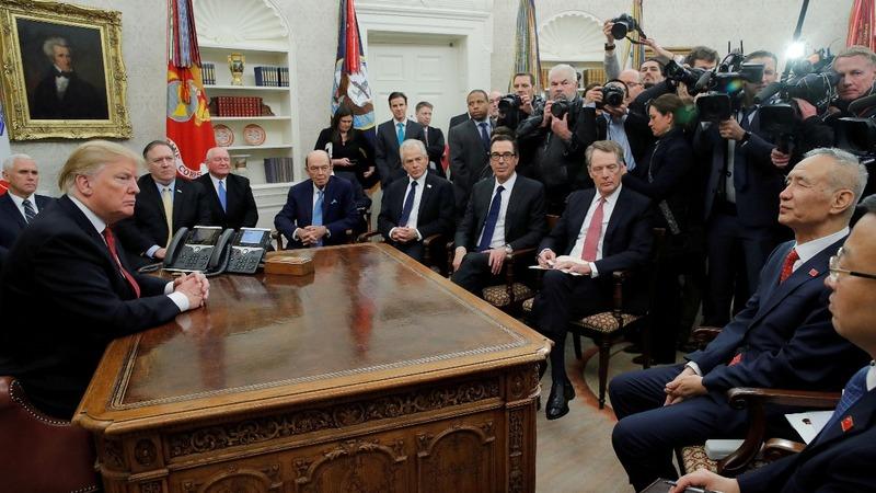 Trump hails progress in trade talks with China
