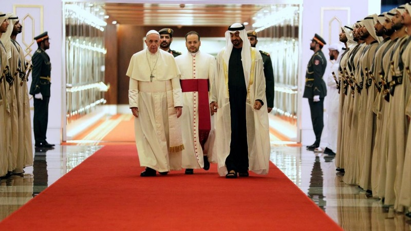 Pope arrives in UAE for historic Gulf visit