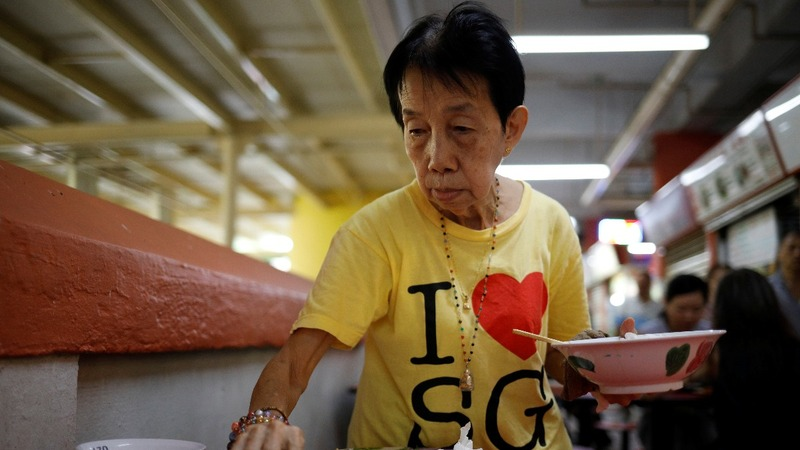 The elderly head back to work in ageing Singapore