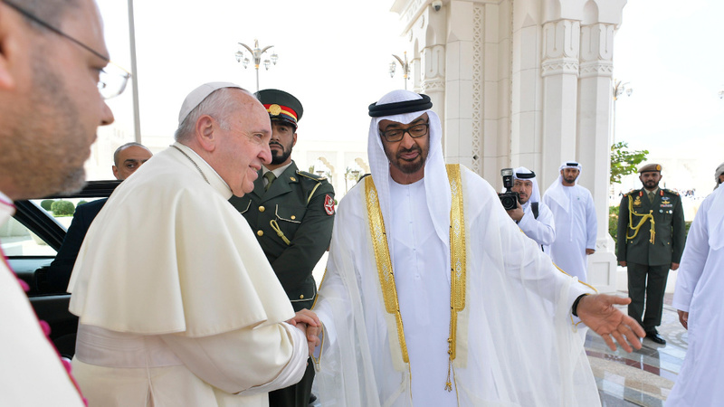 Pope visits Grand Mosque on historic UAE visit