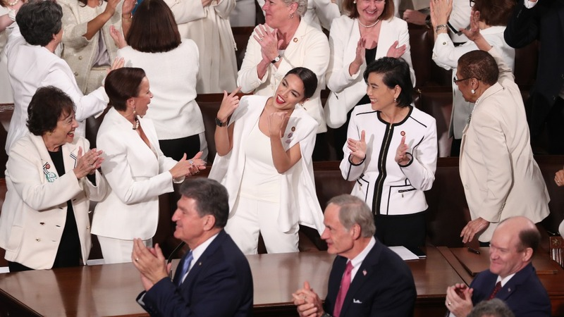 Abrams, women in white challenge Trump's SOTU