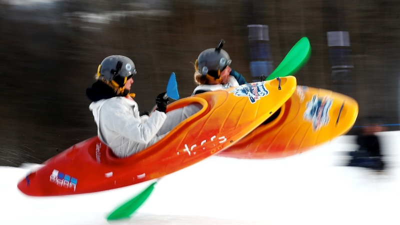 INSIGHT: Estonian hillside hosts snowboating race