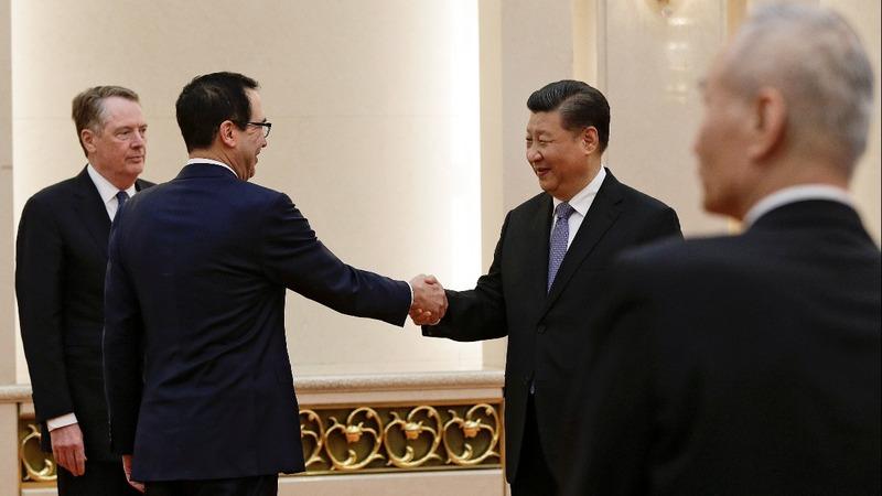 U.S. trade envoys meet with China's President Xi