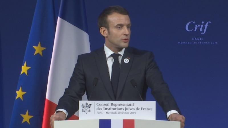 Macron announces anti-semitism measures