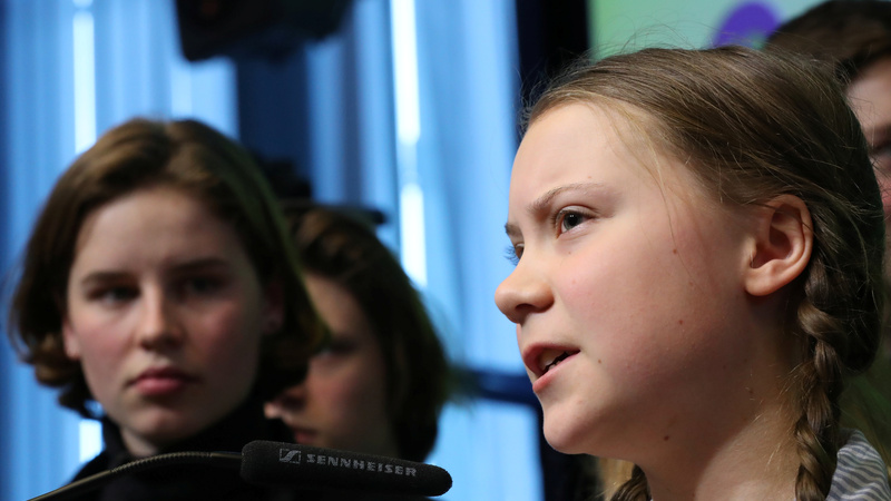 INSIGHT: Teen green activist berates EU leaders