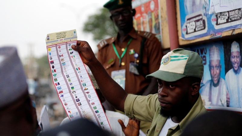Nigeria counts votes in tight election